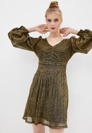 Платье Naf. Цвет: золотой