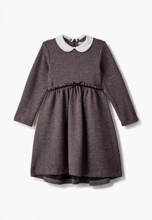 Платье Il Gufo. Цвет: бордовый