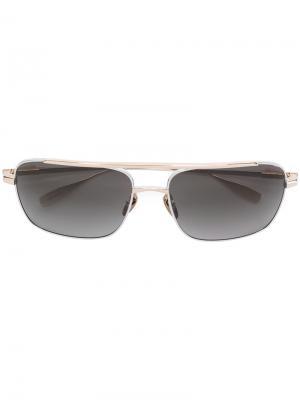Квадратные солнцезащитные очки Chrome Hearts. Цвет: серый