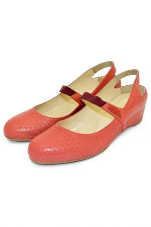 Туфли GIBELLIERI. Цвет: коралловый