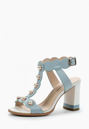 Босоножки King Boots. Цвет: голубой