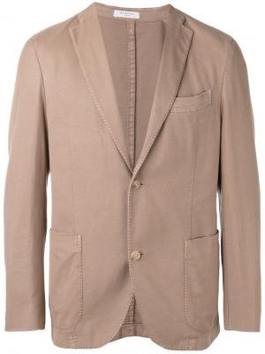 Классический пиджак Boglioli. Цвет: телесный