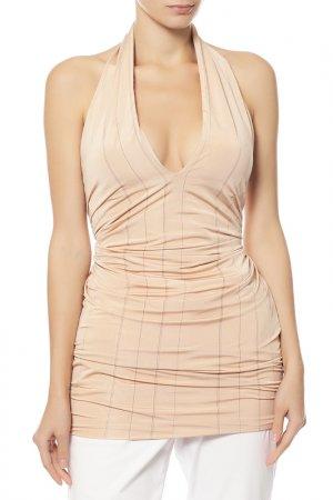 Блуза Calvin Klein. Цвет: бежевый