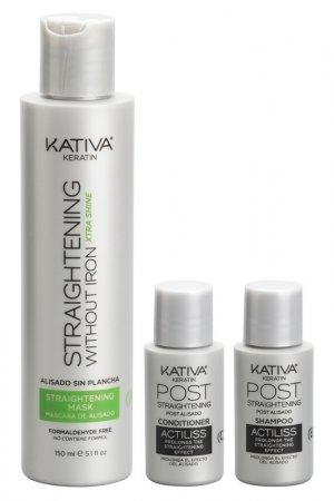 Набор для выпрямления волос KATIVA. Цвет: зеленый