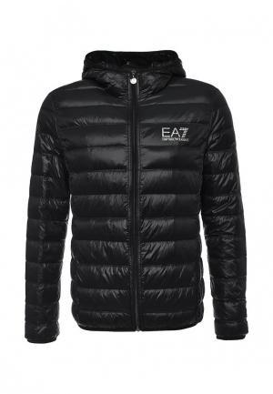 Пуховик EA7. Цвет: черный