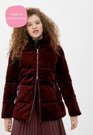 Куртка утепленная Luhta. Цвет: бордовый