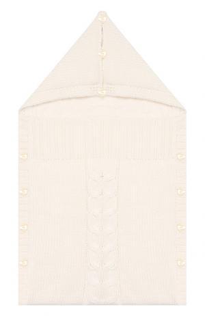 Шерстяной конверт La Perla. Цвет: бежевый
