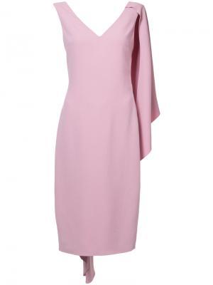 Платье-футляр кейп Cushnie Et Ochs. Цвет: розовый и фиолетовый