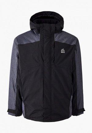 Куртка горнолыжная North 56-4. Цвет: черный