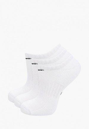Носки 3 пары Nike. Цвет: белый