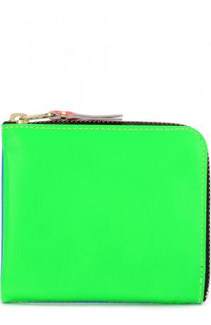 Кожаное портмоне на молнии с отделением для монет Comme des Garcons. Цвет: синий