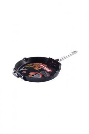 Сковорода-гриль, 28см Pyrex. Цвет: черный