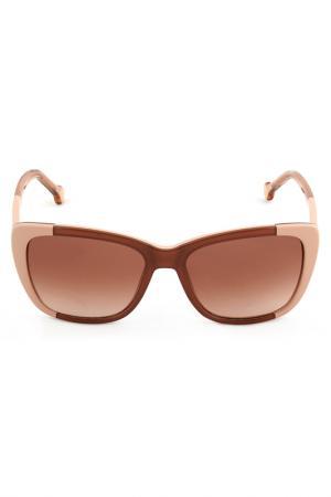 Солнцезащитные очки CAROLINA HERRERA. Цвет: бронзовый