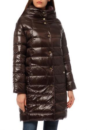 Пальто Herno. Цвет: коричневый