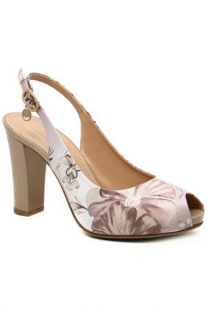 Туфли открытые GIOVANNI FABIANI. Цвет: серый