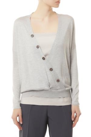 Комплект: пуловер, топ Brunello Cucinelli. Цвет: серый