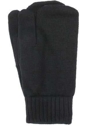 Кашемировые варежки Tegin. Цвет: черный