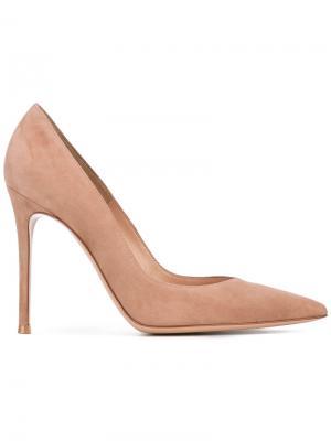 Классические туфли с заостренным носком Gianvito Rossi. Цвет: коричневый