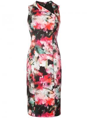 Платье с цветочным рисунком Black Halo. Цвет: многоцветный