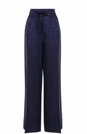 Широкие брюки с эластичным поясом и стрелками Elizabeth and James. Цвет: темно-синий