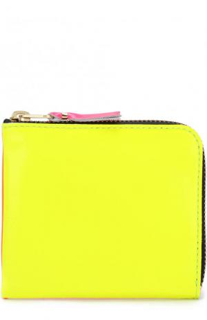 Кожаное портмоне на молнии с отделением для монет Comme des Garcons. Цвет: желтый