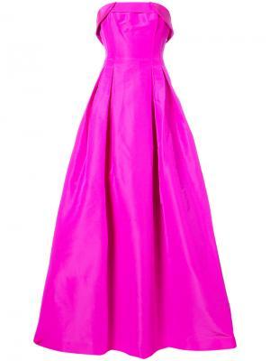 Вечернее платье-бюстье Rielle Sachin & Babi. Цвет: розовый и фиолетовый