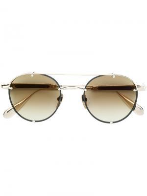 Round-frame sunglasses Chrome Hearts. Цвет: металлический