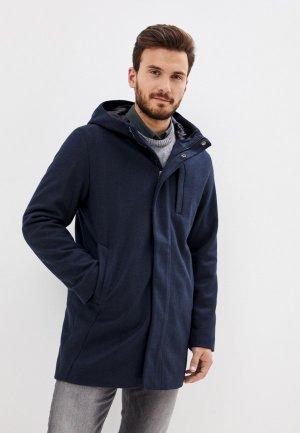 Пальто Jack & Jones. Цвет: синий
