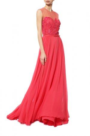 Платье ELIE SAAB. Цвет: begonia