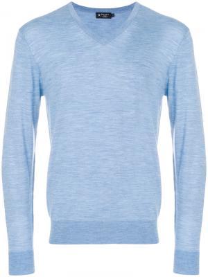 V-neck sweater Hackett. Цвет: синий