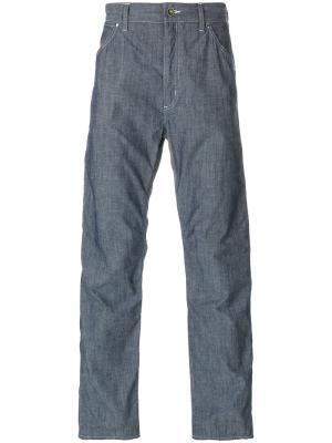 Прямые брюки Engineered Garments. Цвет: синий