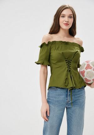 Блуза Motivi. Цвет: зеленый