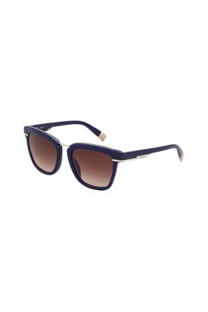 Солнцезащитные очки FURLA. Цвет: синий