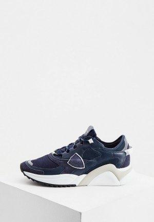 Кроссовки Philippe Model Paris. Цвет: синий
