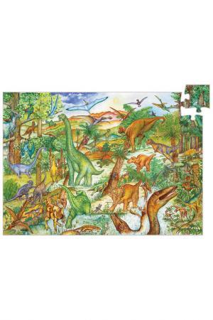 Пазл Динозавры Djeco. Цвет: зеленый