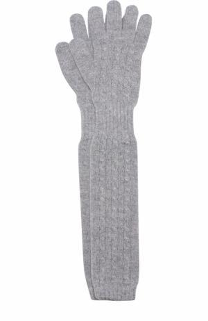 Удлиненные перчатки из кашемира Kashja` Cashmere. Цвет: светло-серый