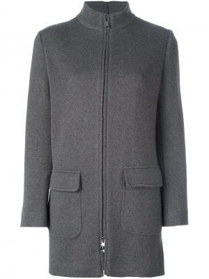 Пальто на молнии Manzoni 24. Цвет: коричневый