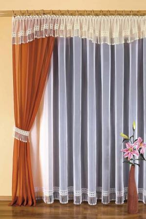Комплект штор WISAN. Цвет: терракотовый