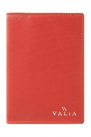 Обложка для паспорта VALIA. Цвет: красный