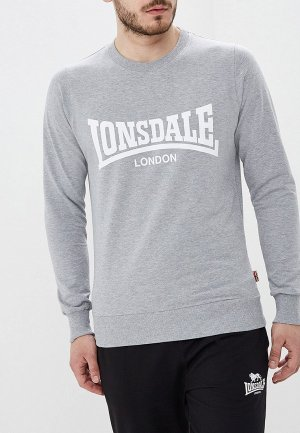 Свитшот Lonsdale. Цвет: серый