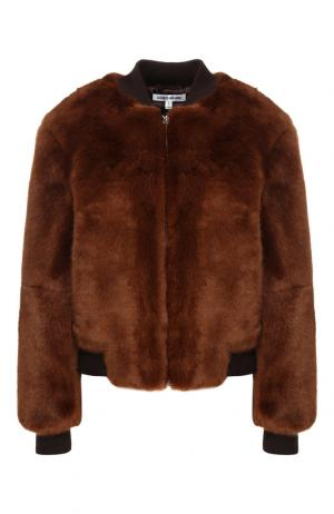 Куртка из эко-меха Elizabeth and James. Цвет: коричневый