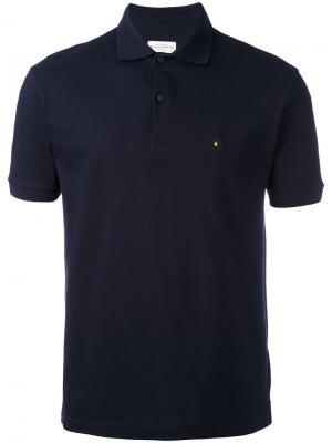 Футболка-поло с логотипом на груди Ballantyne. Цвет: синий
