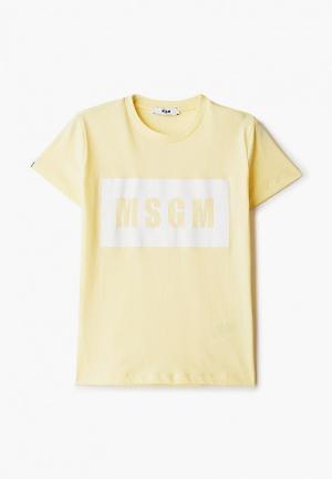 Футболка MSGM Kids. Цвет: желтый