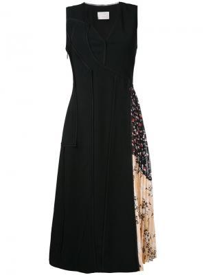 Платье мини с плиссировкой Jason Wu. Цвет: чёрный