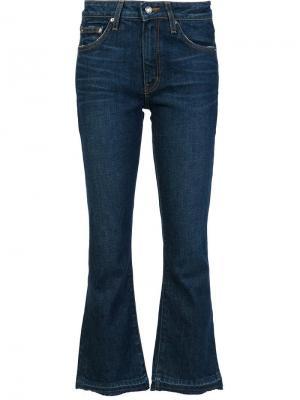 Расклешенные укороченные джинсы Derek Lam 10 Crosby. Цвет: синий