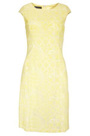 Кружевное платье Apart. Цвет: желтый