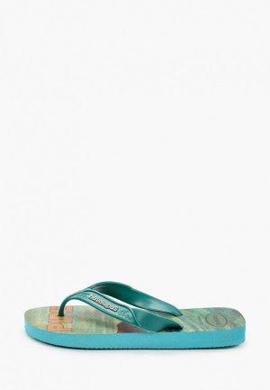 Сланцы Havaianas. Цвет: бирюзовый