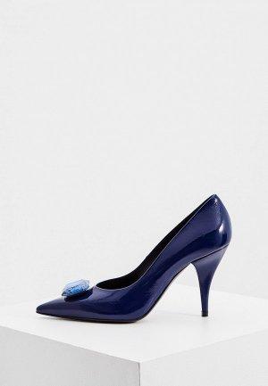 Туфли Casadei. Цвет: синий