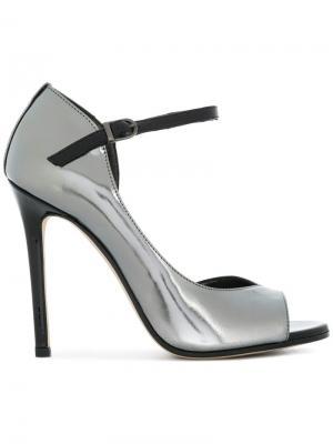 Open toe sheen pumps Marc Ellis. Цвет: металлический