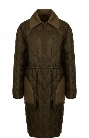 Двустороннее пальто с отложным воротником и карманами Altuzarra. Цвет: хаки